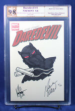 DAREDEVIL#1 (Marvel 2011) PGX (not CGC) 9.8 NM/MT Cover Sketch by KEN HAESER!!!
