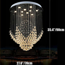 K9 Crystal Pendant Lamp Rain Drop LED Chandelier Ceiling Fixtures Lighting light