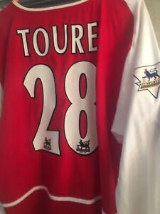 Arsenal Match Worn/ Match Prepared 03/04 Home Shirt Kolo Toure