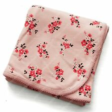 carter's baby girl elegant pink floral cotton double layer cotton blanket