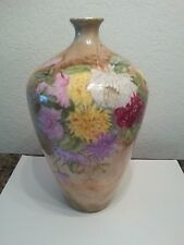 BEAUTIFUL LIMOGES FRANCE HAND PAINTED FLORAL VASE