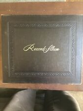 Vintage 78 rpm Record Storage Book w/ 10 Records Included - Very Good Condition
