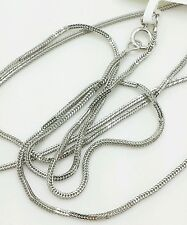 "14k Solid White Gold Foxtail Square Box Wheat Necklace Chain 18"" 0.8mm"