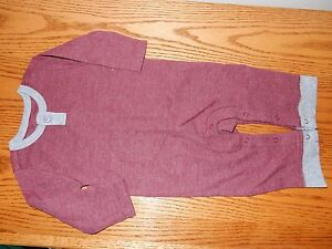 New 3-6M OLD NAVY Maroon Thermal Unionsuit Romper Sleeper Pants Outfit
