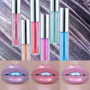 1Pc Women Glitter Long Lasting Sparkling Lip Gloss Liquid Lipstick Makeup Supply