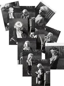 MARSHA JORDAN JOB LOT SET 10 VINTAGE PIN UP PHOTOS 7 X 5 1960s GLAMOUR B/W BUSTY