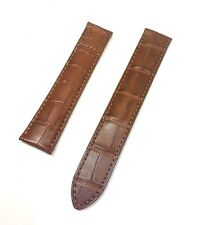 20mm Cartier Brown Alligator Band Total Length 8 Inches Deployment End 18mm