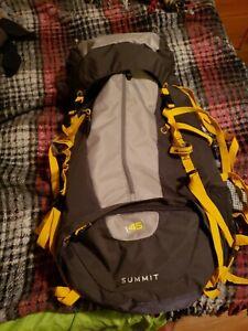 High Sierra Summit 45 Backpack Gray / Yellow