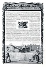 Strohpressen Welger Wolfenbüttel XL Reklame 1913 Werbung Stohballen Einzige Welt