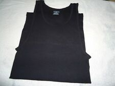 Mens ALFANI Sleeveless UnderShirt New  Ribbed  Sz. L (42-44)   Black Color