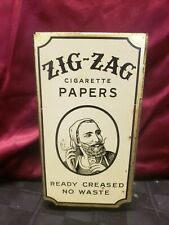 ZIG ZAG VINTAGE TIN CIGARETTE ROLLING PAPERS DISPENSER READY CREASED NO WASTE