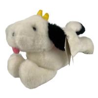 Vtg 1988 Gund Kinder Floppy Moo Cow Plush w Original Tag Toy Stuffed Animal 1794