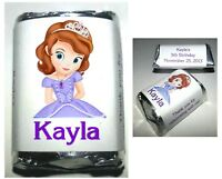 120 PRINCESS SOFIA BIRTHDAY PARTY CANDY WRAPPERS LABELS FAVORS