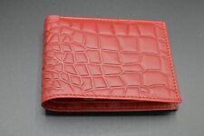 Genuine Crocodile Skin Design Leather Wallet Brown, Brand New