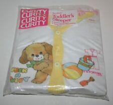 Vintage 1986 Curity Peek A Puppy Toddler's Sleeper Summerweight Size 4 NOS