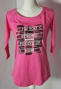 Reebok 3/4 Sleeve Pink Active Top Lightweight Slim Fit Women MEDIUM