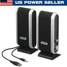 Mini Wired USB Power Computer Speakers Stereo 3.5mm Jack For PC Laptop Black Hot