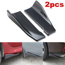 2X Car Bumper Lip Diffuser Spoiler Canard Protector Carbon Fiber Style Universal