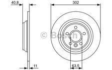 BOSCH Juego de 2 discos freno Trasero 302mm BMW Serie 3 VOLKSWAGEN 0 986 479 397