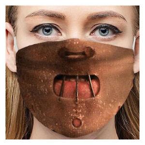 3D Cosplay respirant drôle visage bouche Masque de protection réutilisable