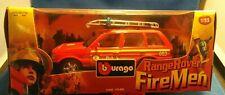 Burago Range Rover Fire Man Airport Fire Service 1/25 New