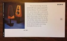 RARE Sony SS-M7 SSM7 ES Speakers Line Ad Info Card 1994