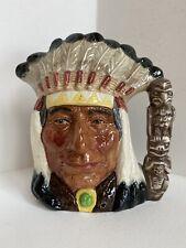 Royal Doulton American Indian Large Character Toby Mug Mint D6611