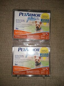 PetArmor Plus Flea and Tick Prevention for Dogs 4-22 lbs - (2 packs) New!