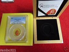 $1 Palau .9999 Gold Proof 0.5 gram Golden Egg No. 2 NGC PCGSMS70 box & coa ogp