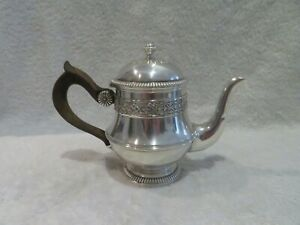 late 19th c french sterling silver single serve teapot LXIV style Boin Taburet