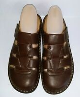 Finn Comfort Women's Java Size 39 Brown Nappa Leather Slip on Clogs Shoes EUC!