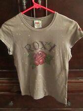 Roxy Paradise Heart of Surfing Rose Paint Splatter Design Tshirt(S)36 in x19 in