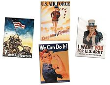 K line  Tin Sign Replica 4 Pack Uncle Sam Rosie USA o gauge train 6-22482