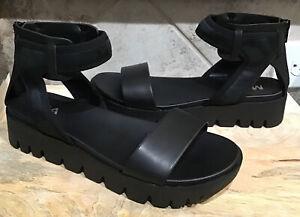 MIA Women's Sz 7.5 M VIOLLA NCM MESH Ankle Platform Sandal BLACK NEW