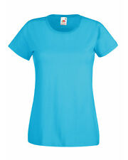 Fruit of The Loom Lady-fit Valueweight T-shirt Azure Blue Wholesale 61372 2xl