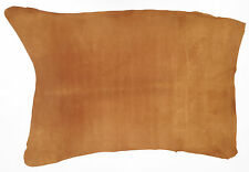 PIG SKIN SUEDE LEATHER 9.0-9.5 SQFT LONDON TAN 0.5MM THICK  SOFT VELOUR FEEL