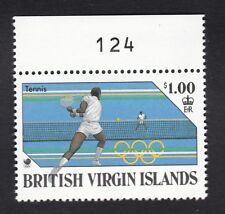 Brit Virgin Is 1988 - SG682 - Olympics Tennis $1 - Mint previous hinged (C1H)