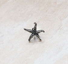 2ps Silvery starfish cartilage barbell Upper Ear Ring piercing Cartilage jewelry