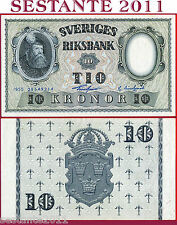 SWEDEN   SVEZIA   -   10 KRONOR  1955  -  P 43c  -    FDS / UNC