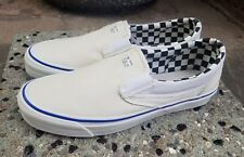 VANS VAULT SLIP-ON LX INSIDE OUT CHECKERBOARD WHITE Men's SZ 12 NEW IN BOX