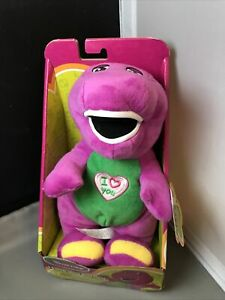 I Love You Barney 10 Inch Plush Figure Singing Plush in Original Box 2017 Works
