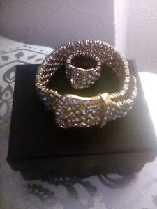 Bracelet,Ring Set By Love rocks