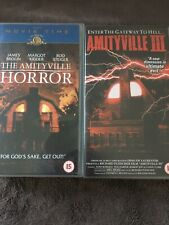 THE AMITYVILLE HORROR & AMITYVILLE III VHS VIDEOS