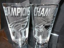 2018 SUPERBOWL 52 CHAMPION PHILADELPHIA EAGLES 2 ETCHED LOGO PINT GLASSES NEW