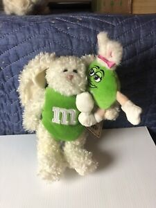 BOYDS BEARS M&M FLOPPY with GREEN  EASTER BUNNY with Tag