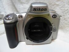 Nikon F55 Film SLR Silver Body full working order. Nice Starter Camera Genuine