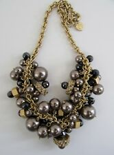 Marc by Marc Jacobs PARTY GIRL Bronze Pearlie Cluster Necklace