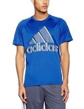 adidas Men's Base Plain Logo T-Shirt, Blue, XX-Large AY7323