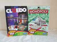 Grab And Go MONOPOLY & CLUEDO travel Games bundle NEW