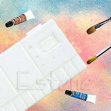 33 Grids Large Art Paint Tray Artist Oil Watercolor Plastic Palette White New